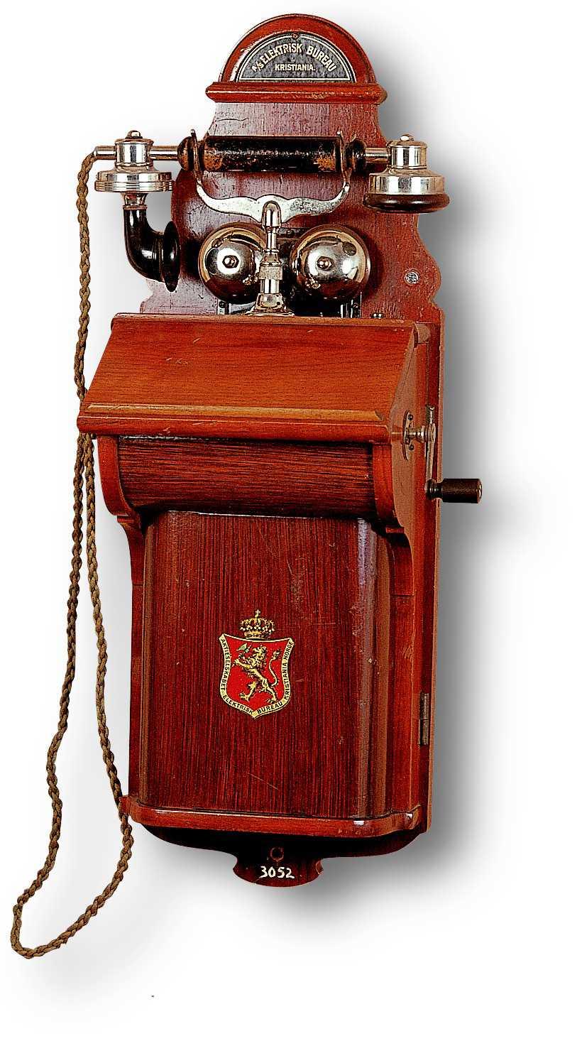 19 Век. Настенный телефонный аппарат 1895г Норвегия. «Elektrisk Bureau Kristiania»
